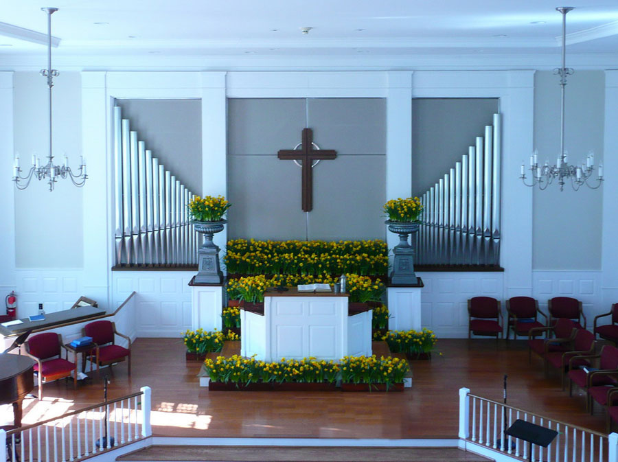 First Presbyterian Church of New Vernon - Sanctuary uplifted