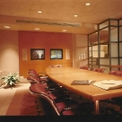 Televideo conference room links NYC investment company with West Coast office